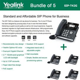 IP Phone Systems SIP-T42G X 5
