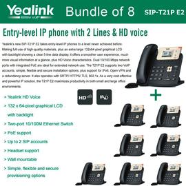 IP Phone Systems SIP-T21P E2 x 8