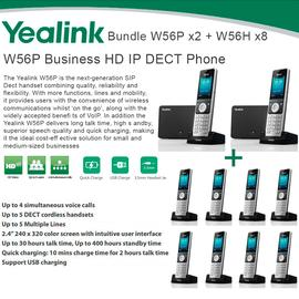 IP Phone Systems W56P X2 + W56H X8