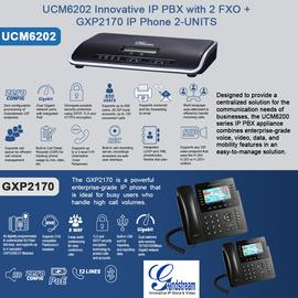 IP Phone Systems UCM6202+GXP2170X2