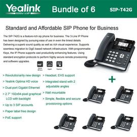 IP Phone Systems SIP-T42G X 6