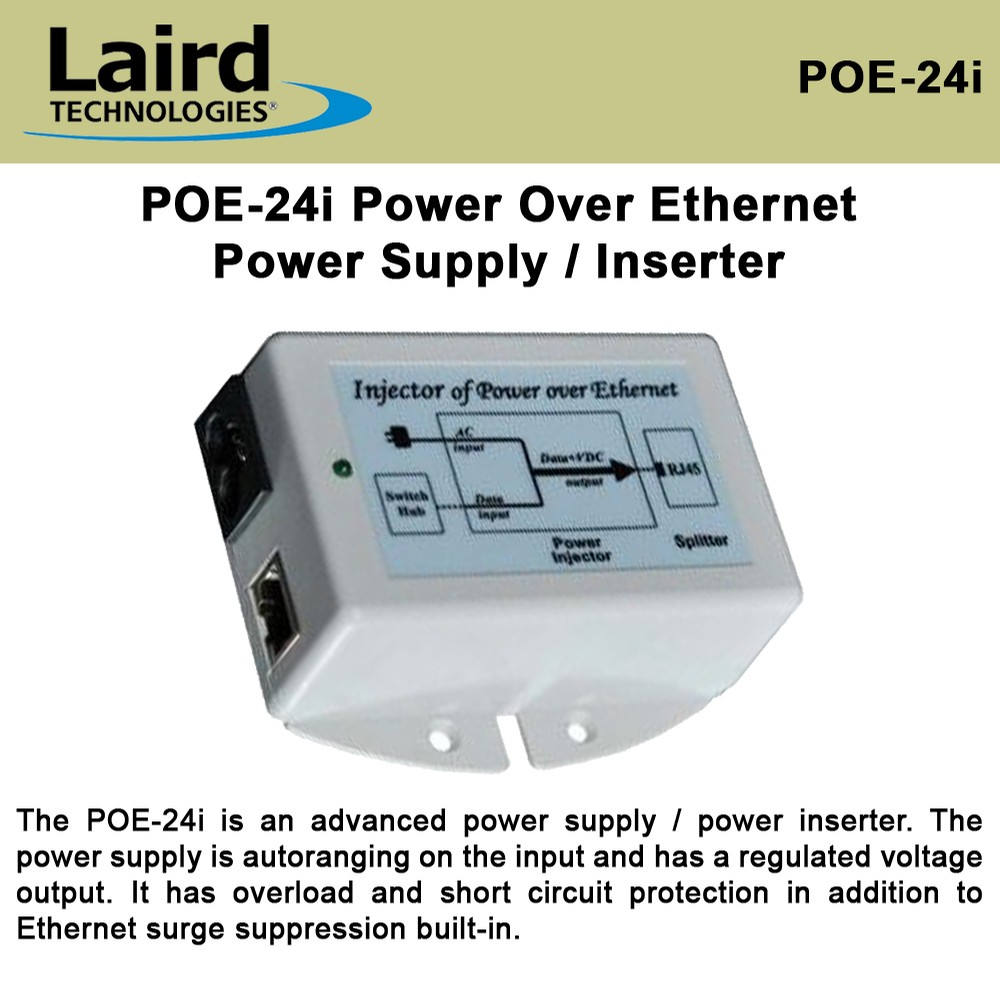 Laird Technologies Poe 24i Power Over Ethernet Supply Inserter Is A Technology That Allows Devices Such