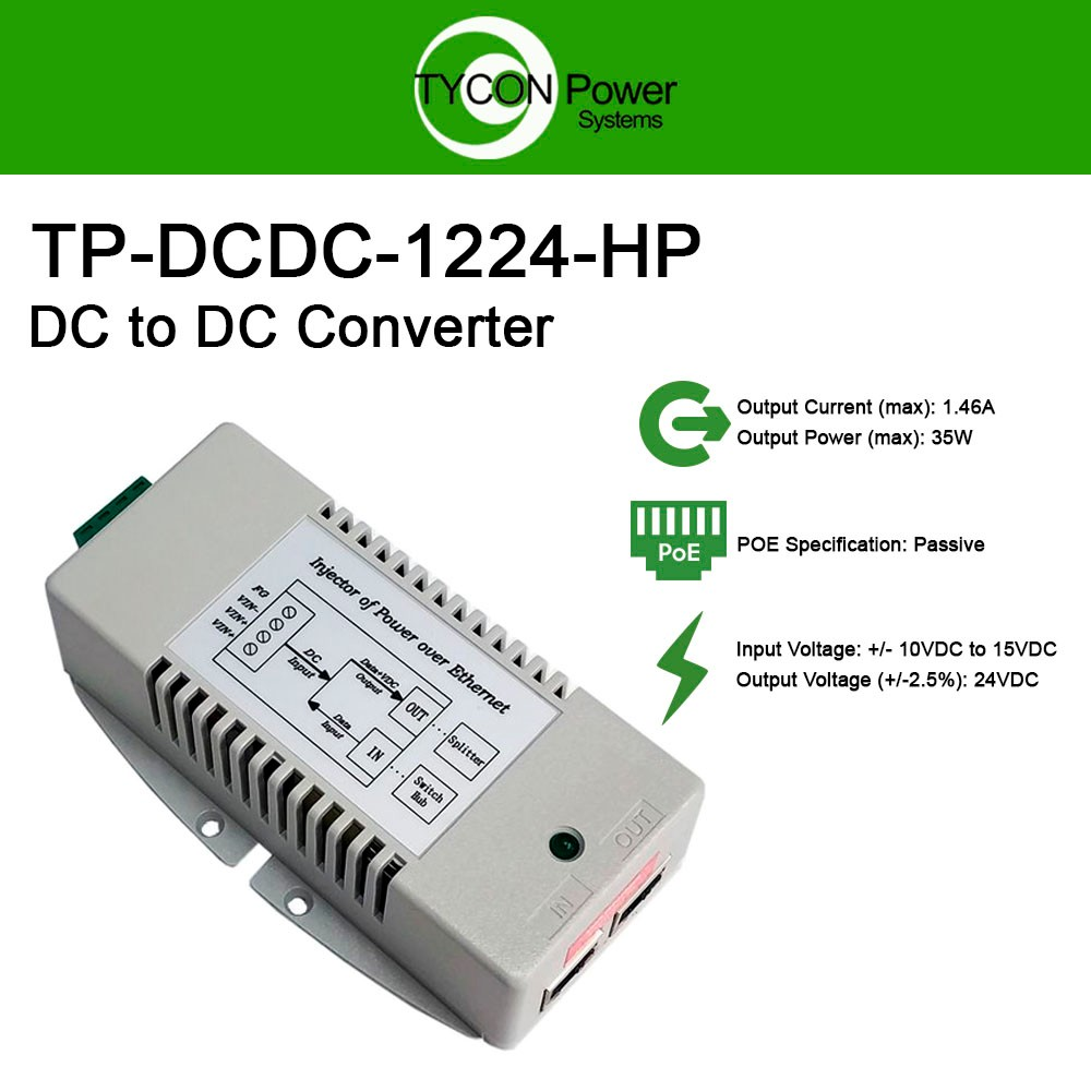 Tycon Power Systems Tp Dcdc 1224 Hp 10 15vdc In 24vdc Out 35w Hi Circuit It Can Uses With Supply Source And Adjust Voltage Dc To