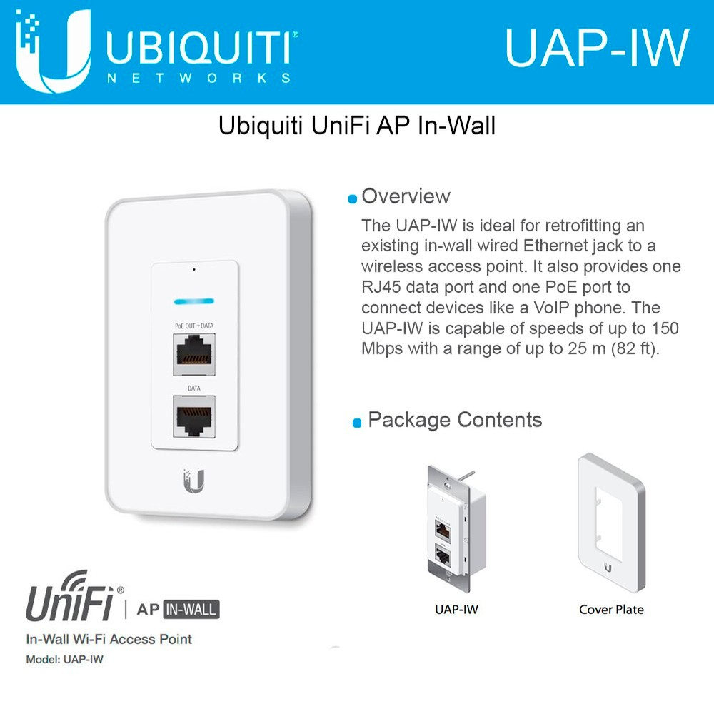 Poin Ethernet Wall Jack Wiring Schematic Diagrams Po Ubiquiti Unifi Access Point Uap Iw In Wi Fi Ap 150 Mbps Poe Rj45