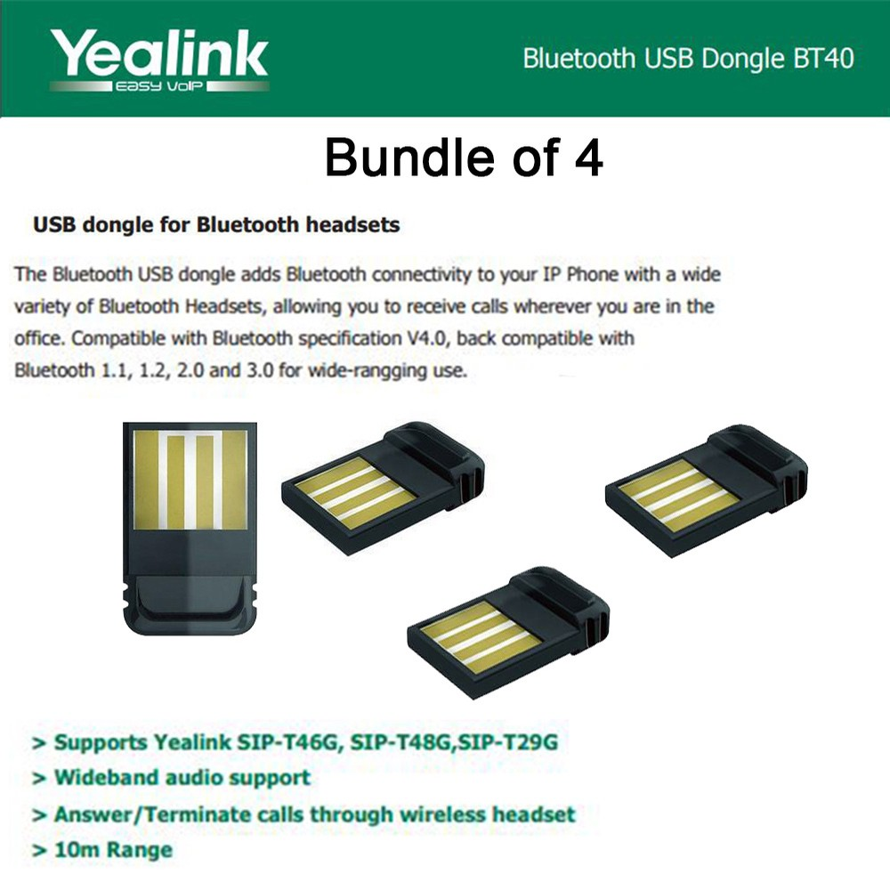 Yealink Bluetooth USB Dongle BT40  up to 4 2.0 4.0+HS