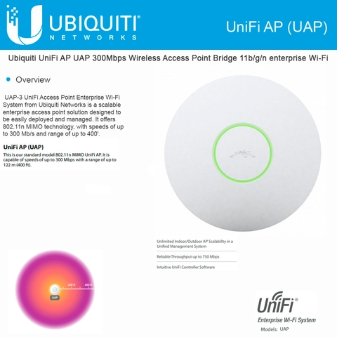 Ubiquiti Unifi Ap Uap 300mbps Wireless Access Point Bridge
