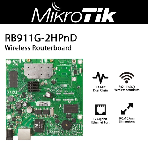Mikrotik RouterBOARD 911G RB911G-2HPnD with 600Mhz Atheros