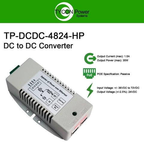 Tycon Power TP-DCDC-4824-HP Gigabit DC to DC Converter