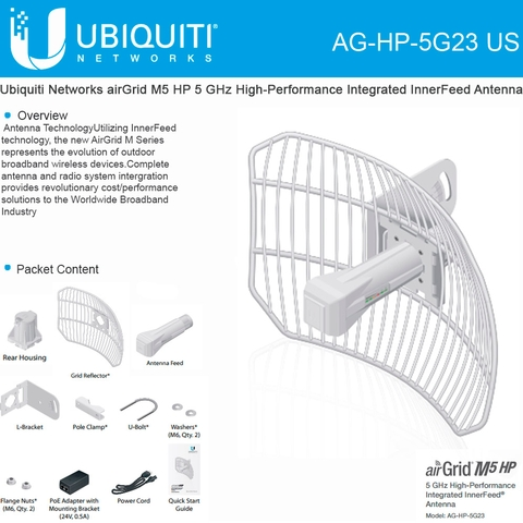 Ubiquiti Networks airGrid M5 HP AG-HP-5G23 US 5 GHz High ...