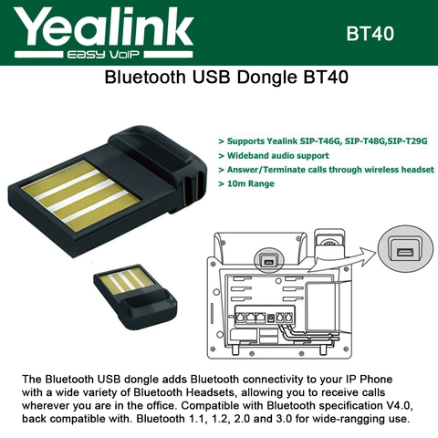 Yealink BT40 IP phone Bluetooth USB Dongle for Yealink with