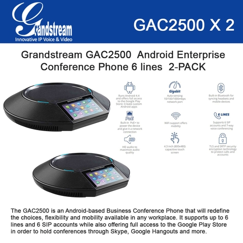 Grandstream Android Enterprise Conference Phone 2-PACK