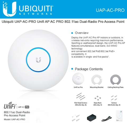 Ubiquiti Unifi Ap Ac Pro Access Point Uap Ac Pro Wireless Dual Band Enterprise Wi Fi