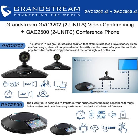 Video Conferencing + GAC2500(2x)Conference Phone