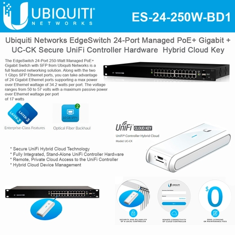 Ubiquiti Networks EdgeSwitch 24-Port ES-24-250W Managed