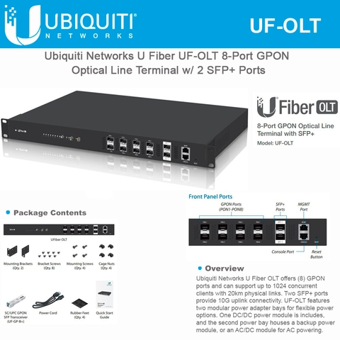 Ubiquiti Networks UFiber OLT UF-OLT 8-Port GPON Optical Line