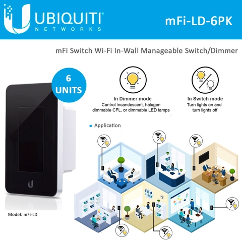 Switch//Dimmer UBIQUITI MFI-LD-W mFi In-Wall Manageable Devices