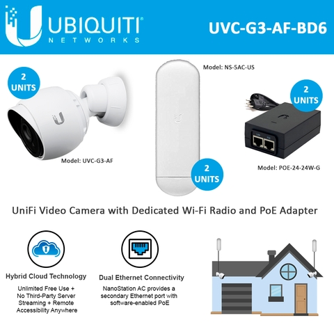 Ubiquiti UniFi Video Camera G3 Indoor/Outdoor 2units with