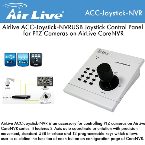 Airlive ACC-Joystick-NVR USB Joystick Control Panel for PTZ