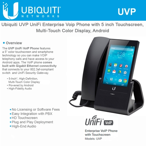 Ubiquiti Networks UniFi VoIP Phone UVP with 5 inch Touchscreen